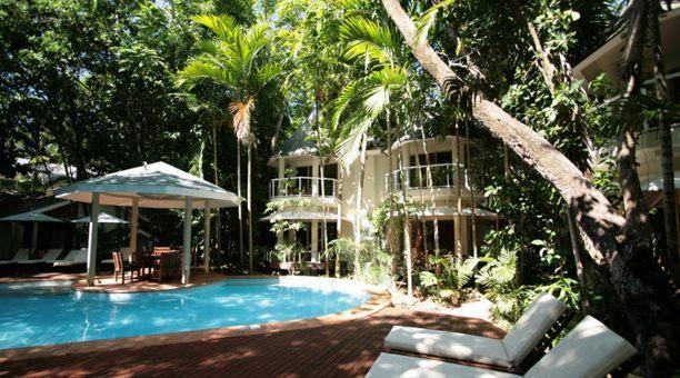 Private Resort pool courtyard